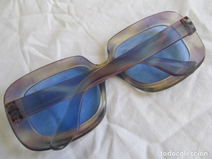 Vintage: Gafas de sol con lentes azules y pasta color lila - Foto 5 - 94986883