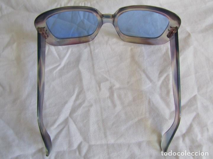 Vintage: Gafas de sol con lentes azules y pasta color lila - Foto 6 - 94986883