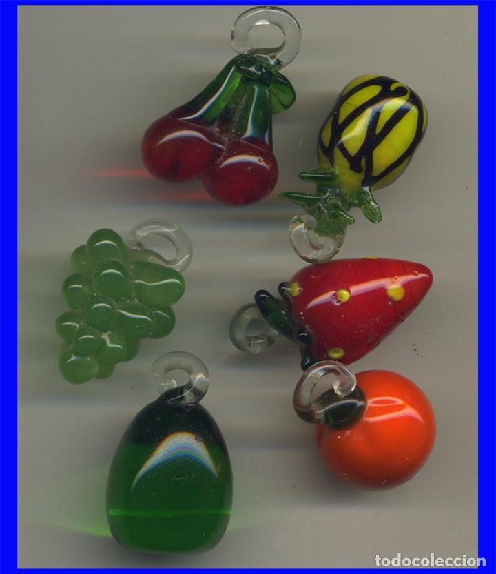 6 frutas de cristal murano multicolor para colg comprar for Frutas de cristal