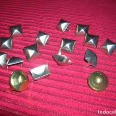 Vintage: CATORCE TACHUELAS PLATEADAS Y DOS EN DORADO ,TOTAL 16. Lote 95549783