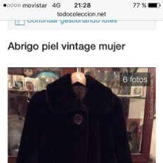 Vintage: ABRIGO VINTAGE. Lote 95565283