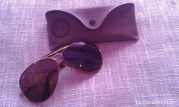 GAFAS RAY BAN AVIATOR OUTDOORSMAN LEATHERS B L USA CUERO (Vintage - Moda -  Complementos) 0668722259