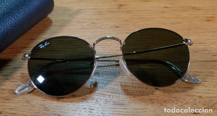 """Gafas de sol """"RayBan"""" tipo John Lennon en varilla metálica dorada vintage cec4911b0df5"""