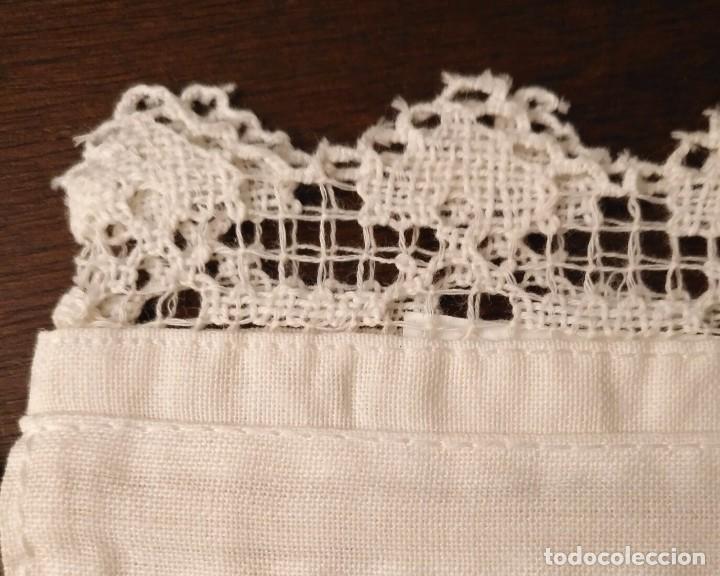 pequeña bolsa lino / algodón blanco bordada y c - Comprar ...