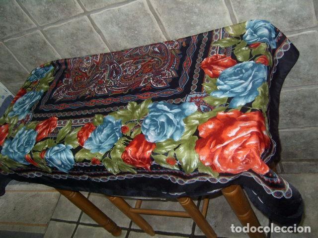 Vintage: PAÑUELO GRANDE PRECIOSO ESTAMPADO. - Foto 4 - 97002251