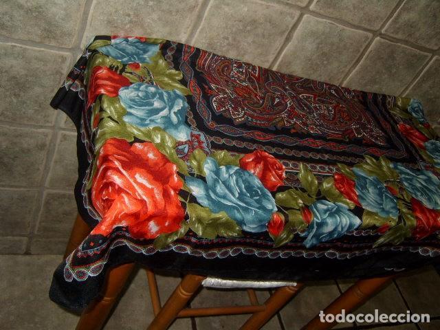 Vintage: PAÑUELO GRANDE PRECIOSO ESTAMPADO. - Foto 5 - 97002251