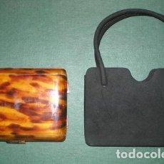 Vintage: ESTUCHE ANTIGUO DE MAQUILLAJE, CAREY, CON BOLSO. Lote 101628930