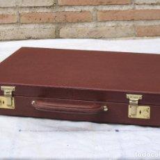 Vintage: MALETIN PORTADOCUMENTOS O PORTAFOLIOS EN CUERO. MARCA : ARIES ARTESANOS EN PIEL.. Lote 97440059