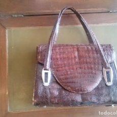 Vintage: BOLSO DE PIEL DE COCODRILO AÑOS 60. Lote 97925843