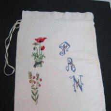 Vintage: BOLSA DE PAN BORDADA. Lote 100339859