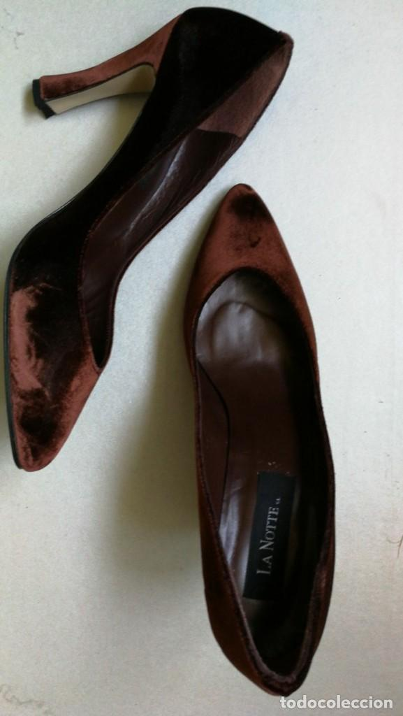 Marrón 80 La Zapatos Años Moda Terciopelo Vintage Notte Comprar XEwwH5qI