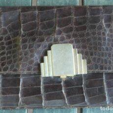 Vintage: SOBRE PARA DAMA DE PIEL DE COCODRILO ANTIGUO. Lote 103293551