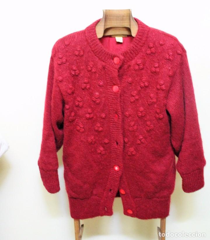 bien conocido venta más barata estilo de moda de 2019 Chaqueta de punto, roja.