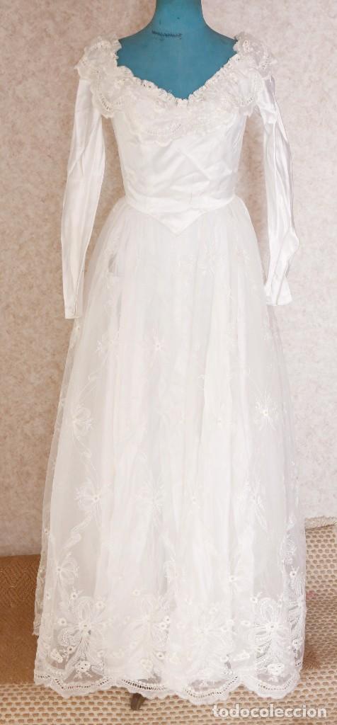 Vestido De Novia AntiguoPuntillas Y Moda RasoVer Comprar OX8nwk0P
