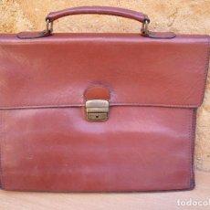 Vintage: MALETA DE PIEL 40 X 30 CM. MADE IN ITALY. Lote 104065451