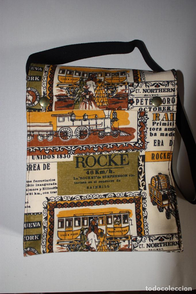 BOLSA-CARTERA ESCOLAR, AÑOS 70 (Vintage - Moda - Complementos)