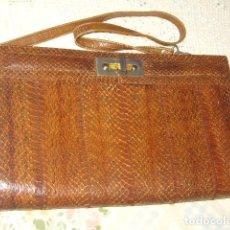Vintage: BOLSO DE PIEL DE SERPIENTE ORIGINAL,AÑOS 70.. Lote 105276635