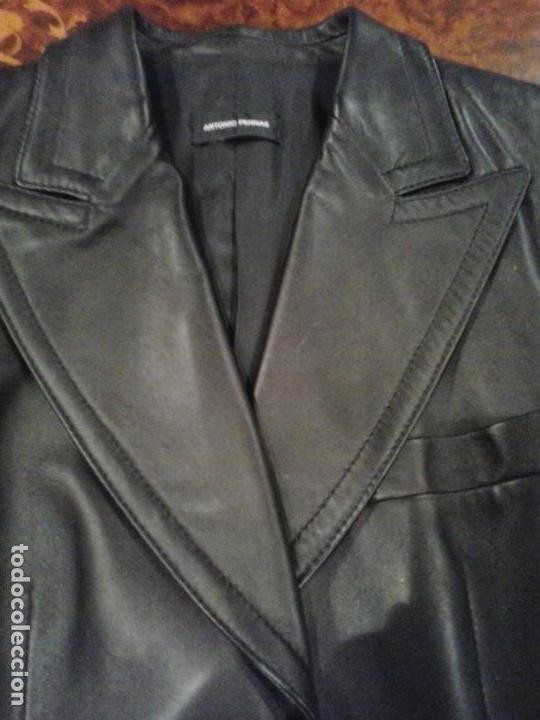 6efd8343986c33 Vintage: Chaqueta o americana piel negra ,diseñador Antonio pernas T42 -  Foto 3 -