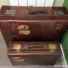 Vintage: PAREJA DE MALETAS VINTAGE. Lote 106663110