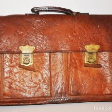 Vintage: MALETÍN ITALIANO GENUINE LEATHER.PIEL. Lote 106739251