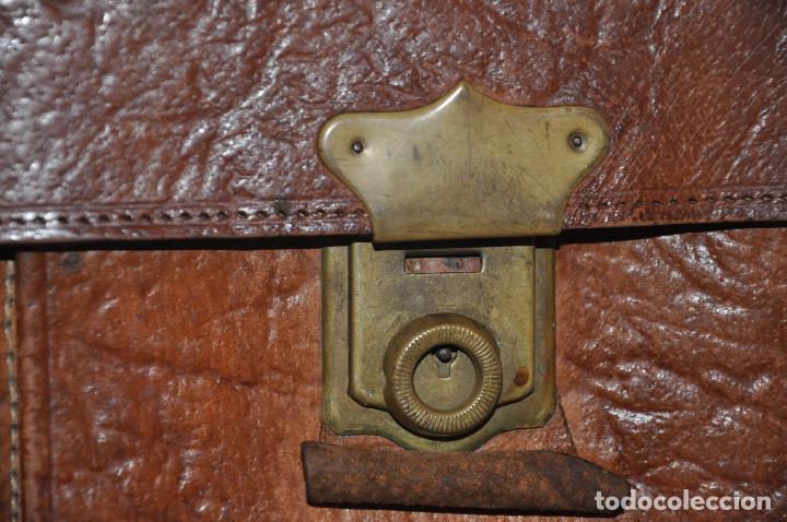 Vintage: Maletín italiano Genuine Leather.Piel - Foto 3 - 106739251
