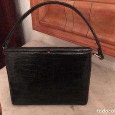 Vintage: BOLSO VINTAGE DE PIEL DE COCODRILO. Lote 107444951