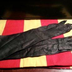 Vintage: GUANTES LARGOS PIEL .. Lote 107967087