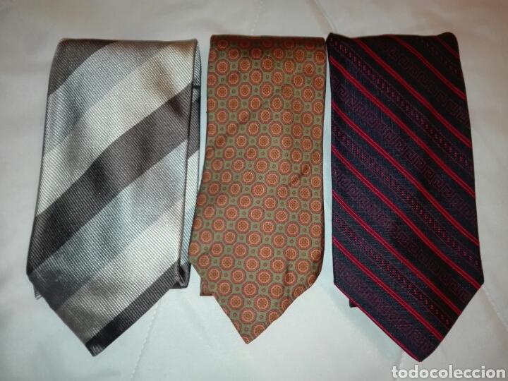 Vintage: Lote corbatas seda natural. LANVIN, ARMANI, VERSACE, CELINE, FERRAGAMO, BURBERRYS, SIR BONSER. - Foto 2 - 108050298
