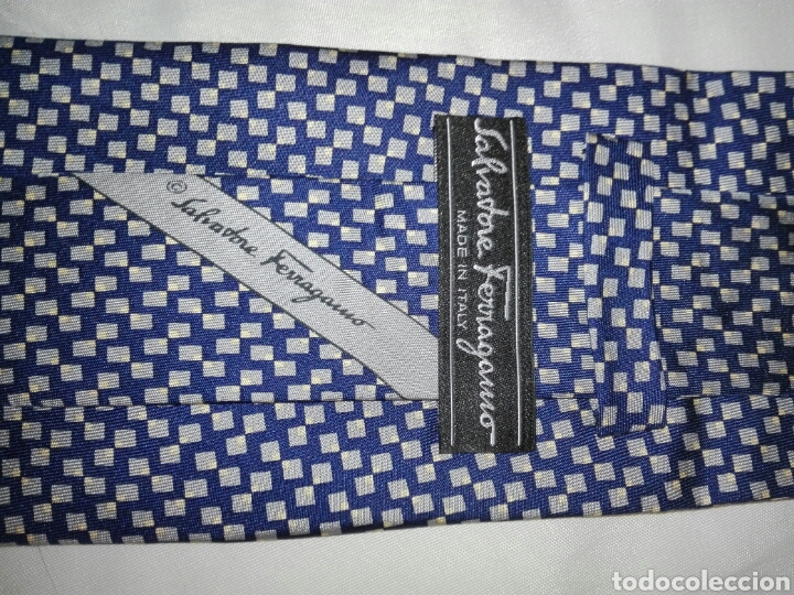 Vintage: Lote corbatas seda natural. LANVIN, ARMANI, VERSACE, CELINE, FERRAGAMO, BURBERRYS, SIR BONSER. - Foto 6 - 108050298