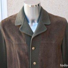 Vintage: CHAQUETA HOMBRE, LANA 100% Y PIEL NATURAL ANTE. LEATHER. AÑOS 70. Lote 109201323