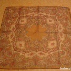 Vintage: PAÑUELO VINTAGE CUADRADO ESTAMPADO CACHEMERE. Lote 109385035