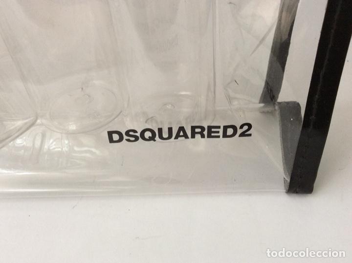 Vintage: Envío 8€. Neceser 6 envases viaje marca DSQUARED2 de plástico de 27x17cm - Foto 7 - 112323463