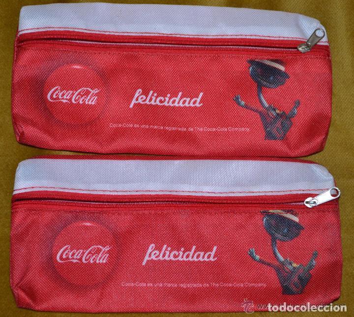 PAR DE ESTUCHES DE COCA COLA, COLECCIÓN FELICIDAD (Vintage - Moda - Complementos)