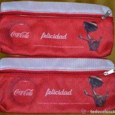 Vintage: PAR DE ESTUCHES DE COCA COLA, COLECCIÓN FELICIDAD ----- REFGIMHAULEMGRRAGO. Lote 112795267
