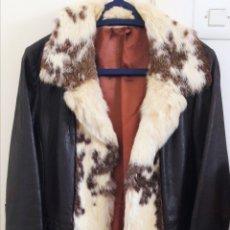 Abrigo vintage de piel cuero marrón años 70 de Londres ver descripción y fotos