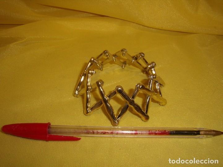 Vintage: Coletero extensible dorado, años 80, Nuevo. - Foto 2 - 113661579
