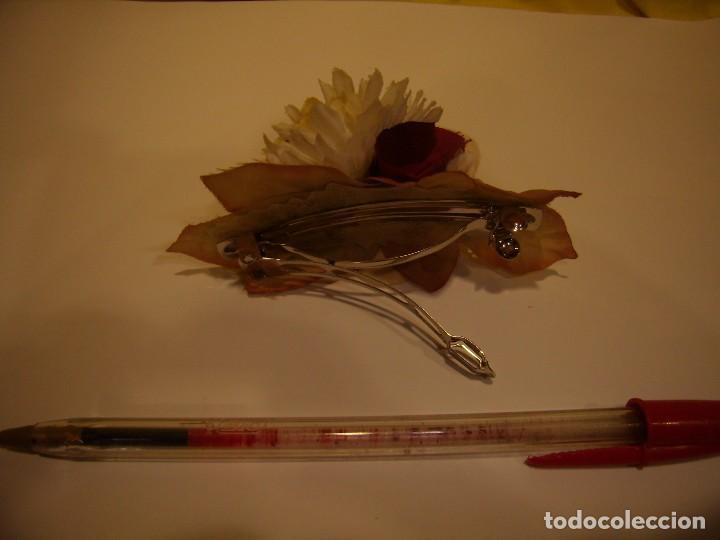 Vintage: Pasador pelo prendedor flor, años 80, Nuevo sin usar. - Foto 2 - 113891675
