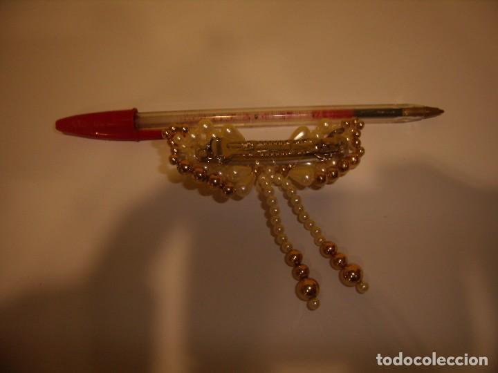 Vintage: Pasador pelo prendedor perla 2 colgantes, años 80, Nuevo. - Foto 2 - 113893007