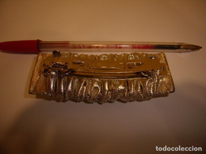 Vintage  Pasador pelo dorado tela 67ea493ae05b