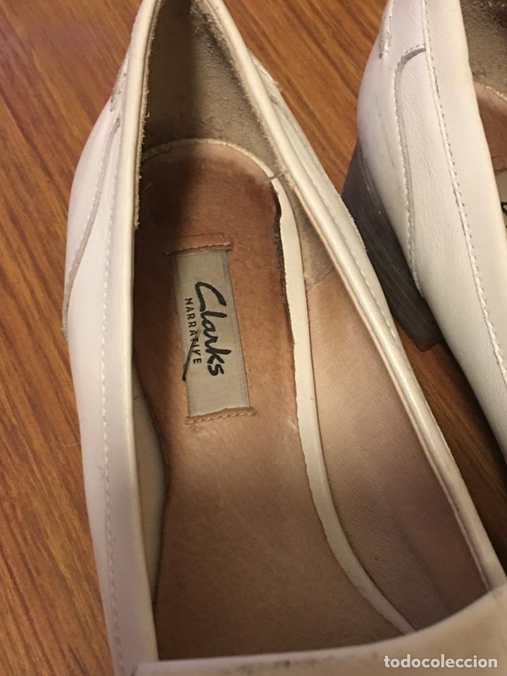 Hombre 50 60 De Clarks 41 Número Vintage Años Zapatos Blancos EI9DH2