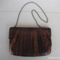 Vintage: BOLSO PIEL DE SERPIENTE AUTENTICA. Lote 116790987