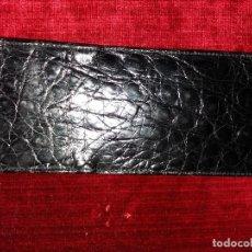 Vintage: BOLSITO PARA GAFAS COCODRILO NEGRO. Lote 116997175
