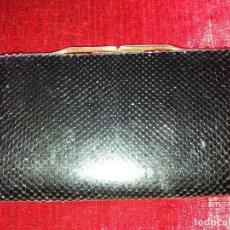 Vintage: MONEDERO PIEL SERPIENTE NEGRO. . Lote 116997795