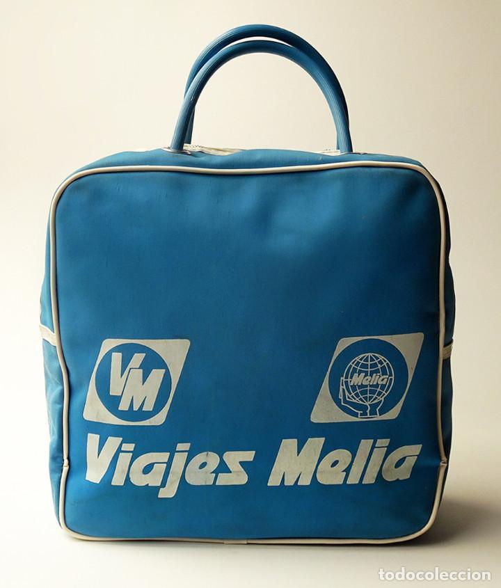 Azul Y Blanco Vintage Años 70 Viajes De Meliá Azafata Bolsa Magnífico O Viaje 60 Bolso Publicidad POkwXTZiu