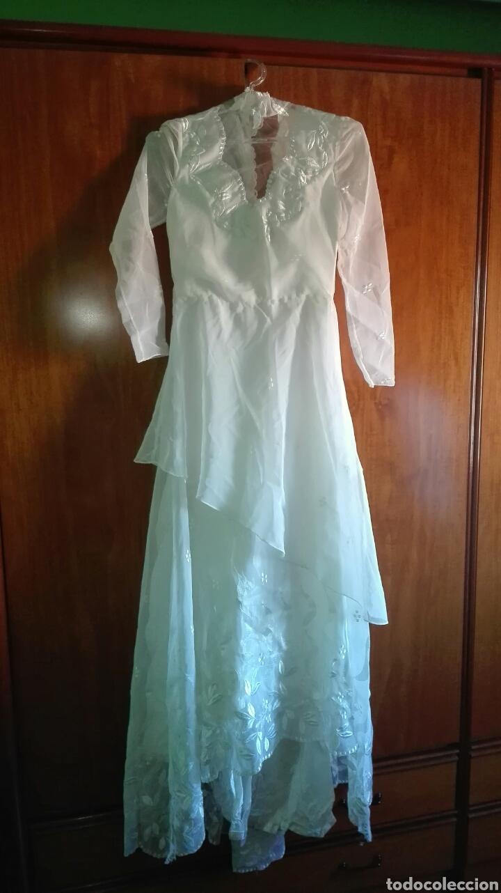 vestido de novia vintage ( año 1982 ) talla 40 - Comprar Moda ...