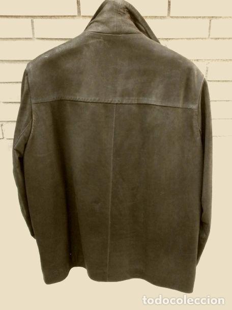 Vintage: CHAQUETON PIEL CUERO HOMBRE (SEMI NUEVO) MARCA SAND KEY (años 80) CHAQUETA TALLA 48 - calidad-abrigo - Foto 2 - 118110099