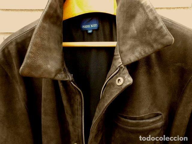 Vintage: CHAQUETON PIEL CUERO HOMBRE (SEMI NUEVO) MARCA SAND KEY (años 80) CHAQUETA TALLA 48 - calidad-abrigo - Foto 3 - 118110099