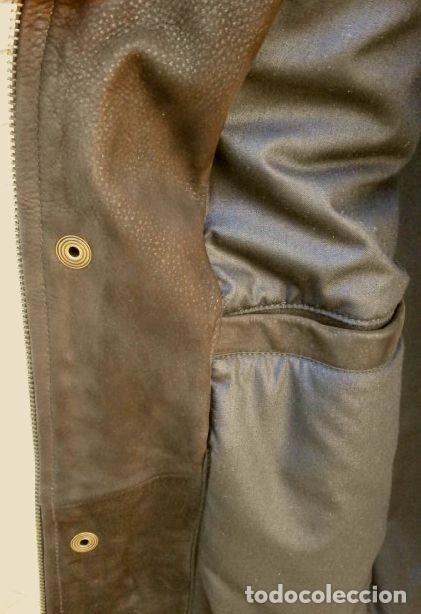 Vintage: CHAQUETON PIEL CUERO HOMBRE (SEMI NUEVO) MARCA SAND KEY (años 80) CHAQUETA TALLA 48 - calidad-abrigo - Foto 6 - 118110099