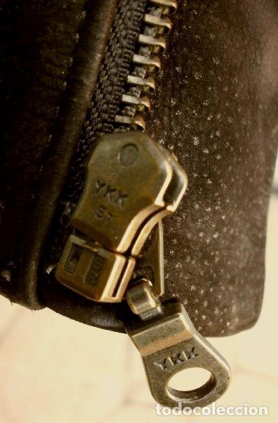 Vintage: CHAQUETON PIEL CUERO HOMBRE (SEMI NUEVO) MARCA SAND KEY (años 80) CHAQUETA TALLA 48 - calidad-abrigo - Foto 7 - 118110099