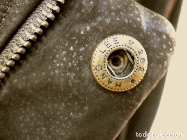 Vintage: CHAQUETON PIEL CUERO HOMBRE (SEMI NUEVO) MARCA SAND KEY (años 80) CHAQUETA TALLA 48 - calidad-abrigo - Foto 8 - 118110099